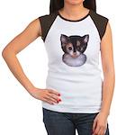 Blue Eyed Kitten 2 Women's Cap Sleeve T-Shirt