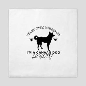 Canaan Dog Mommy Queen Duvet