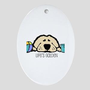 Life's Golden Beach Oval Ornament