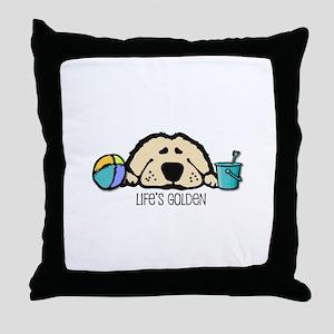 Life's Golden Beach Throw Pillow