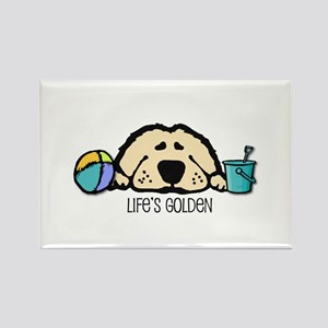 Life's Golden Beach Rectangle Magnet