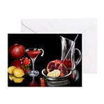 Pomegranate Martini Greeting Cards (Pk of 10)