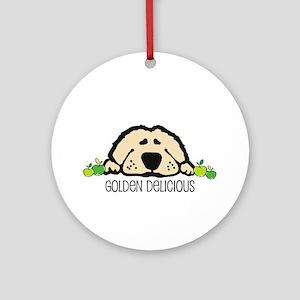 Golden Delicous Golden Ornament (Round)
