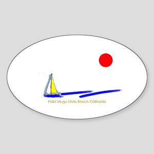 Point Mugu Oval Sticker
