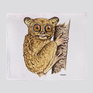 Tarsier Animal Throw Blanket