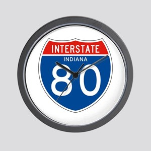 Interstate 80 - IN Wall Clock