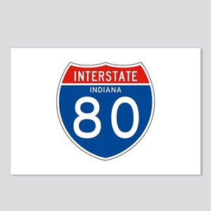 Interstate 80 - IN Postcards (Package of 8)