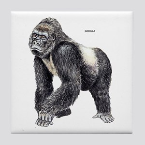 Gorilla Ape Animal Tile Coaster