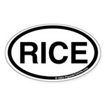 Rice International Code Oval Sticker