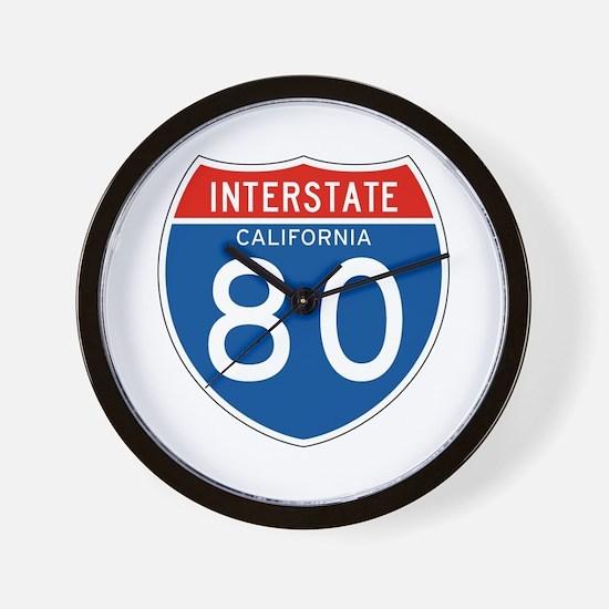 Interstate 80 - CA Wall Clock