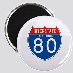 Interstate 80 - CA Magnet
