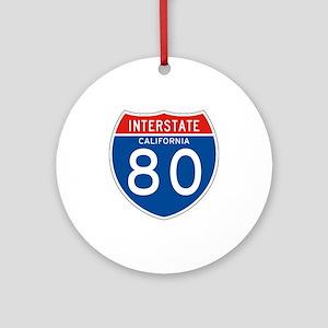 Interstate 80 - CA Ornament (Round)
