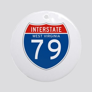 Interstate 79 - WV Ornament (Round)