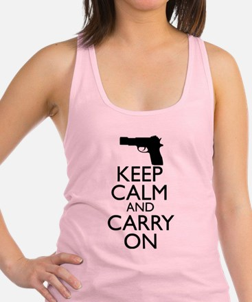 Keep Calm and Carry On Racerback Tank Top