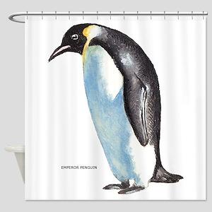 Emperor Penguin Bird Shower Curtain