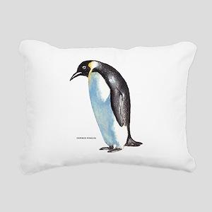 Emperor Penguin Bird Rectangular Canvas Pillow