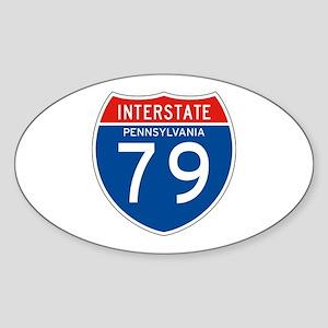 Interstate 79 - PA Oval Sticker