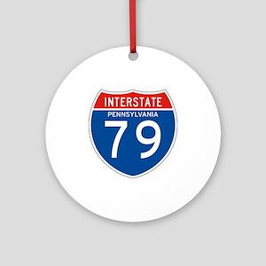 Interstate 79 - PA Ornament (Round)