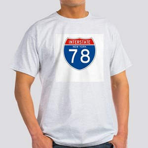 Interstate 78 - NY Ash Grey T-Shirt