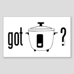 got rice? (cooker symbol) Sticker (Recta