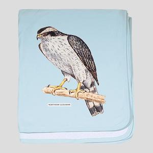 Northern Goshawk Bird baby blanket