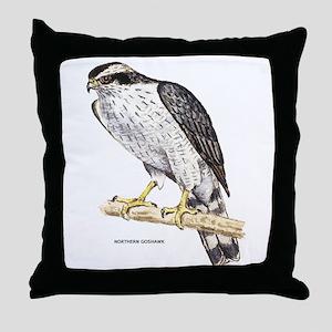 Northern Goshawk Bird Throw Pillow