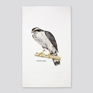 Northern Goshawk Bird 3'x5' Area Rug
