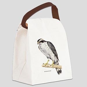 Northern Goshawk Bird Canvas Lunch Bag