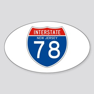 Interstate 78 - NJ Oval Sticker
