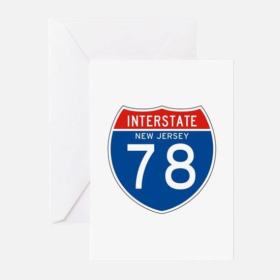 Interstate 78 - NJ Greeting Cards (Pk of 10)