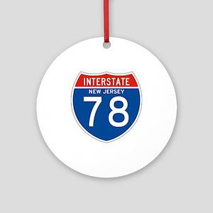 Interstate 78 - NJ Ornament (Round)