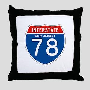 Interstate 78 - NJ Throw Pillow