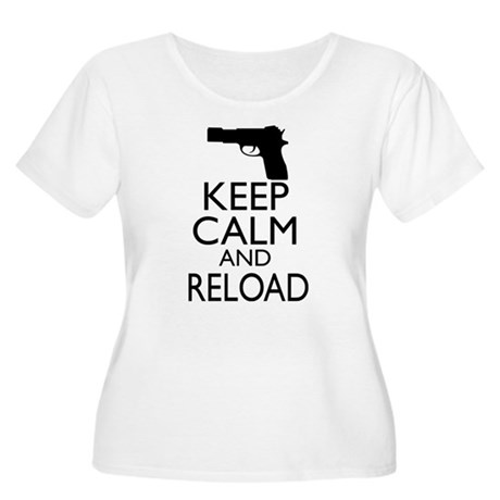 Keep Calm and Reload Women's Plus Size Scoop Neck