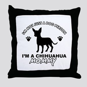 Chihuahua Mommy Throw Pillow