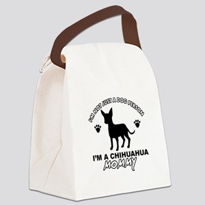 Chihuahua Mommy Canvas Lunch Bag