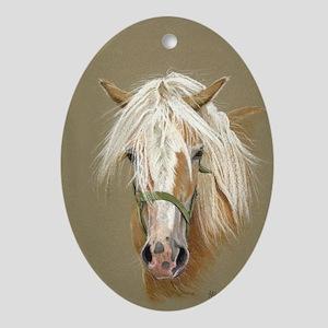 Haflinger Horse Oval Ornament