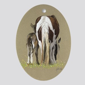 Gypsy and Foal Oval Ornament