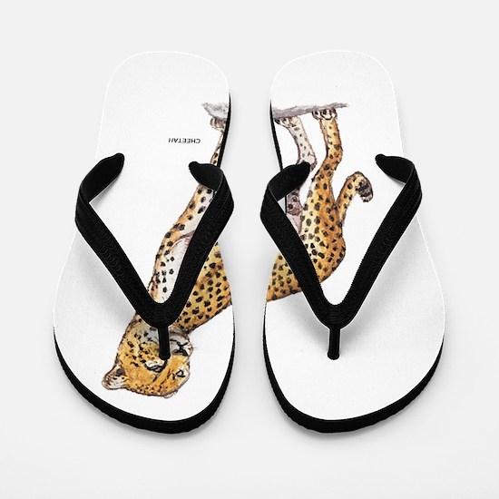 Cheetah Big Cat Flip Flops
