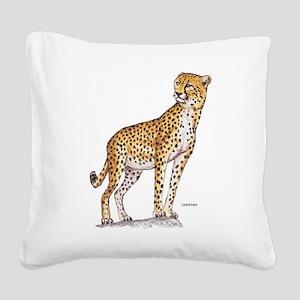 Cheetah Big Cat Square Canvas Pillow