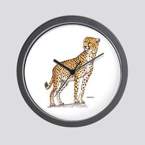 Cheetah Big Cat Wall Clock