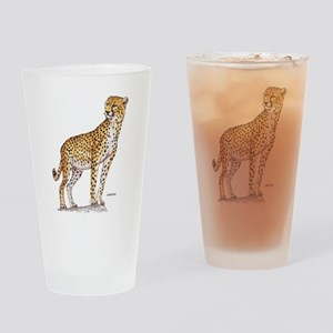 Cheetah Big Cat Drinking Glass