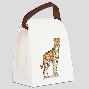 Cheetah Big Cat Canvas Lunch Bag