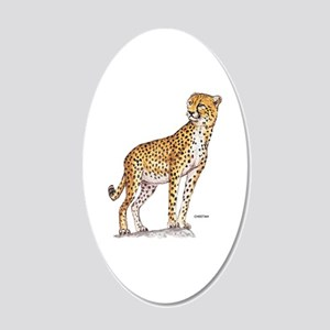 Cheetah Big Cat 20x12 Oval Wall Decal