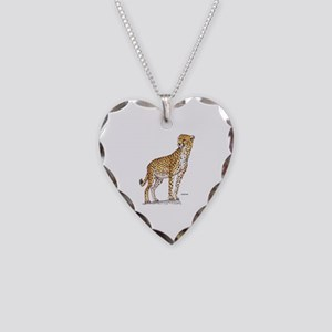 Cheetah Big Cat Necklace Heart Charm