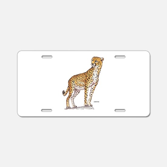 Cheetah Big Cat Aluminum License Plate