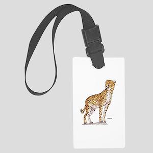 Cheetah Big Cat Large Luggage Tag