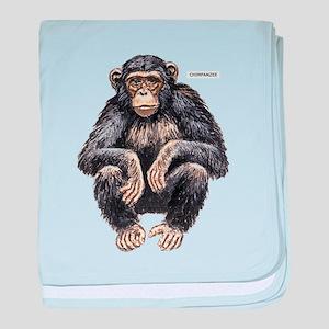 Chimpanzee Monkey Ape baby blanket