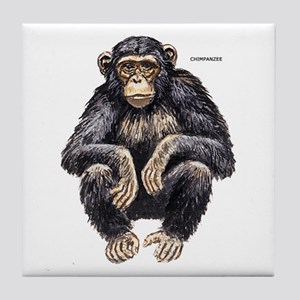 Chimpanzee Monkey Ape Tile Coaster