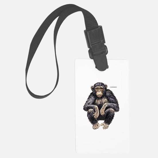 Chimpanzee Monkey Ape Luggage Tag