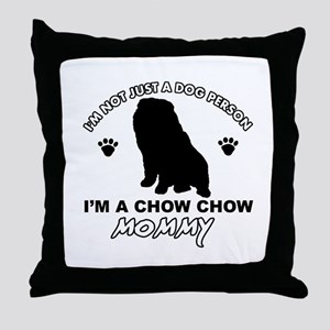 Chow Chow Mommy Throw Pillow